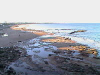 The picturesque beach at Whitley Bay